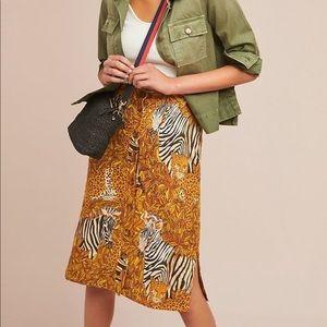 Maeve jungle print pencil skirt NWOT